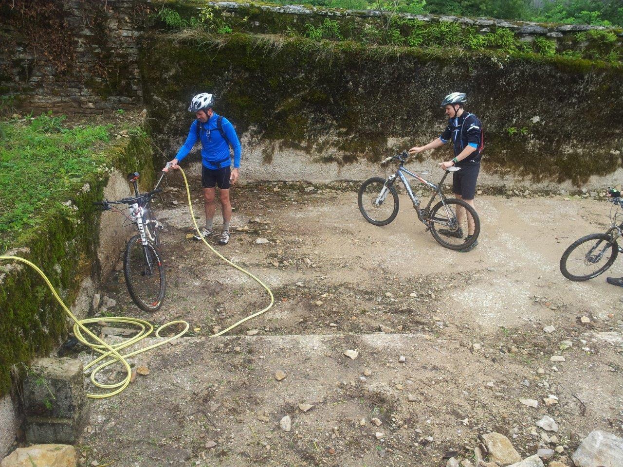 Le lavage des vélos