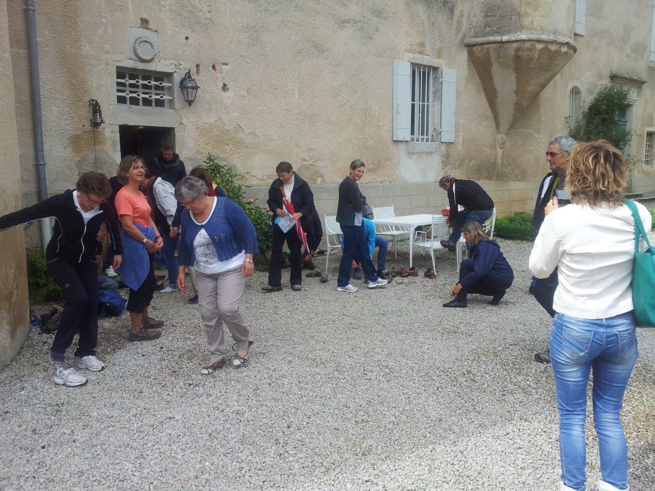 Visite du chateau par les propriétaires